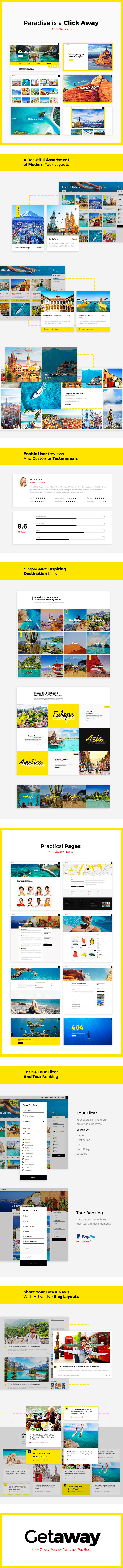 WordPress theme Getaway - An Upbeat Travel and Tourism Theme (Travel)